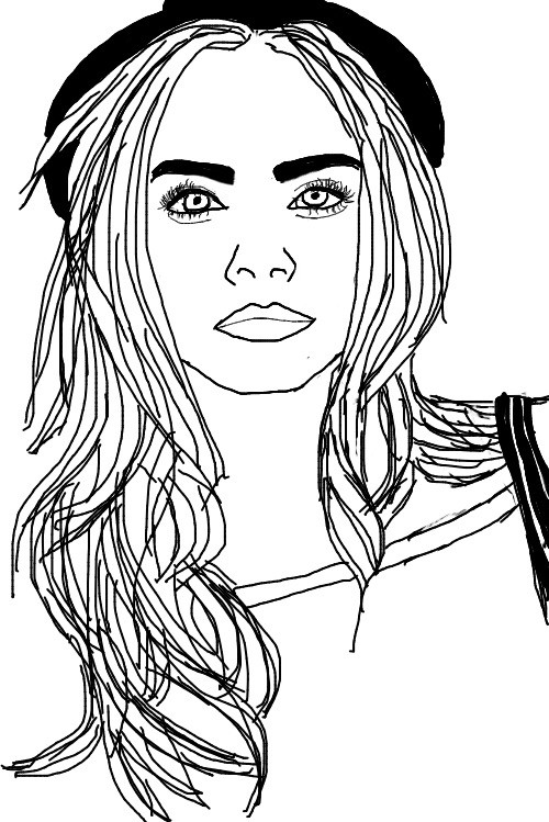 #caradelevingne #art #beauty