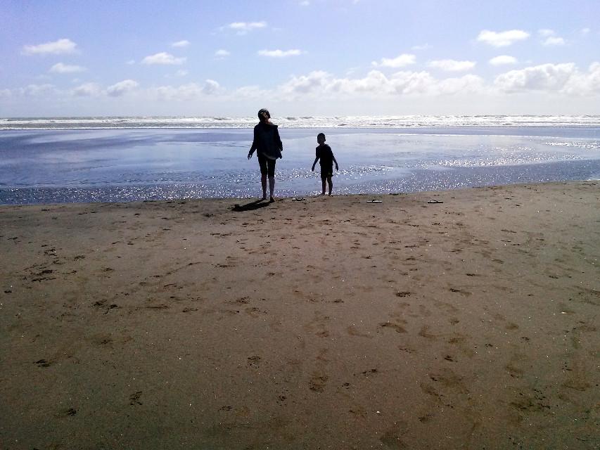 Like brother like sister... #beach #cute #emotions #freetoedit #love #people #photography #muriwai