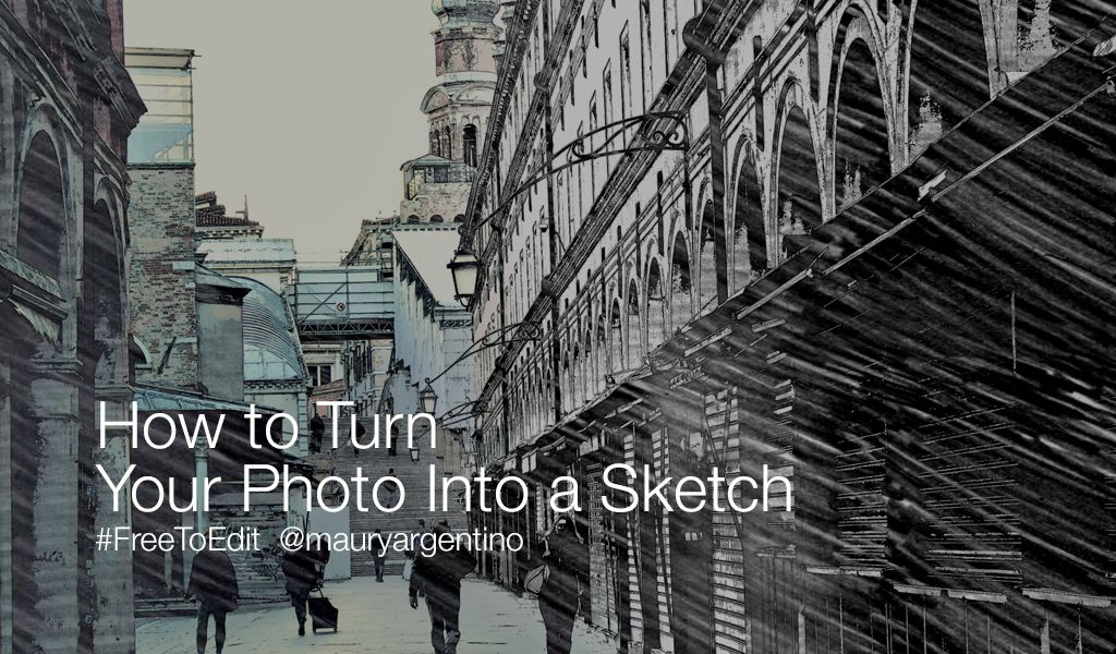photo to sketch editing tutorial