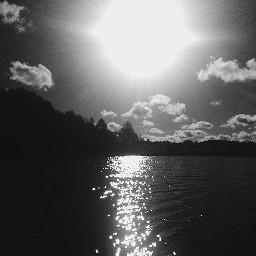 nature blackandwhite lake clouds