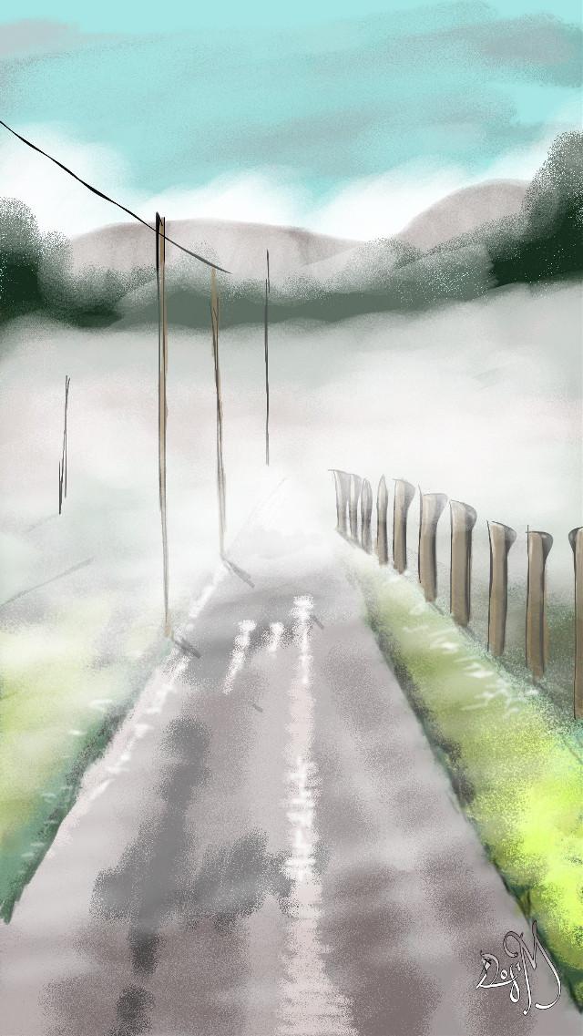 #wdpfog #autumn #drawing #roads
