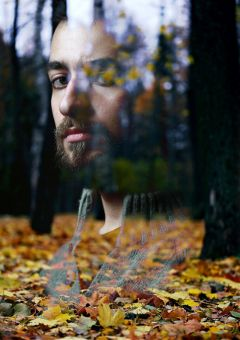 closeup collage surreal portrait nature