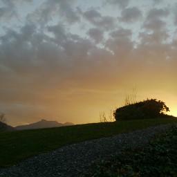 nofilter closeup sunset clouds colorsplash
