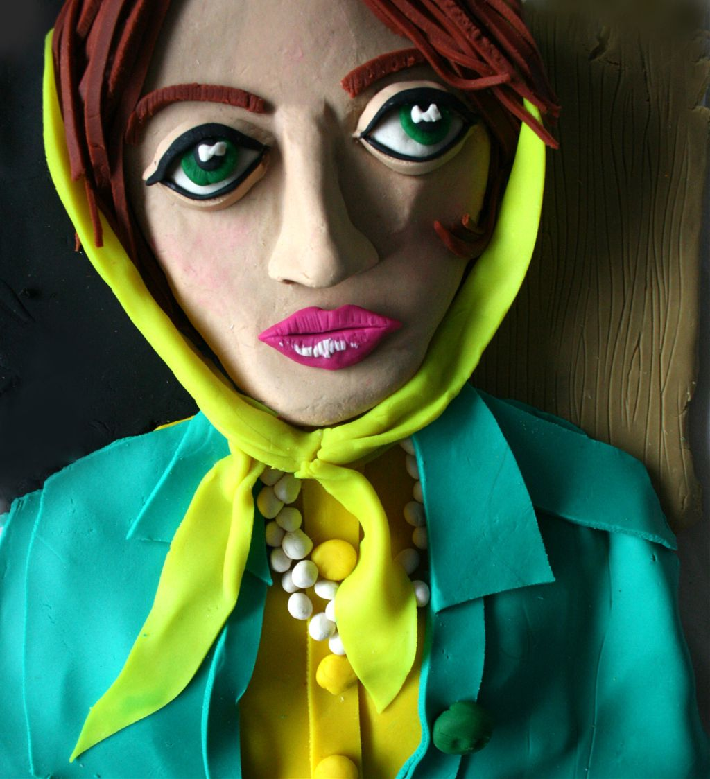 woman in play doh