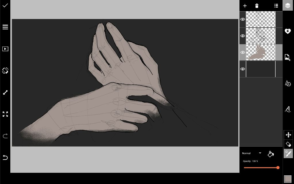 coloring hands
