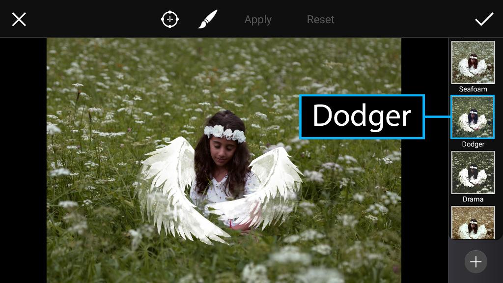 dodger photo effect