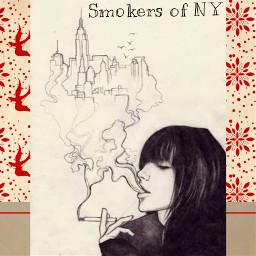art smoke drawing newyork doodle