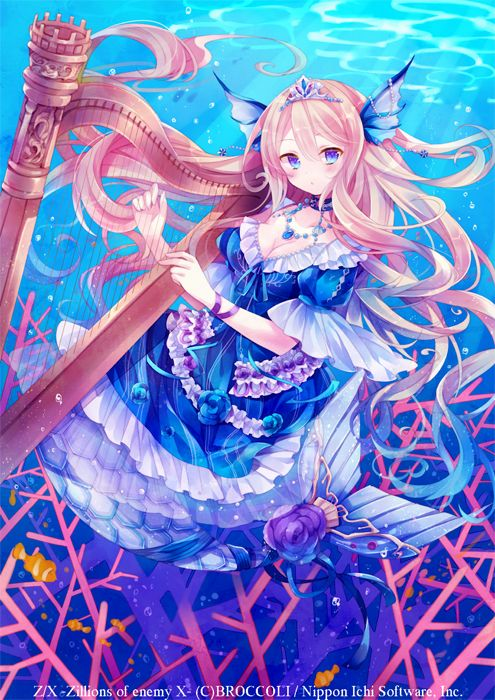 Mermaid Girl Fantasy Anime Beautiful