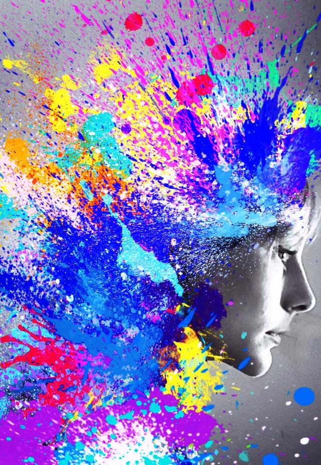 Color Explosion #colorsplash  #colorcontrast #wigs #diptych #fun #colorburst #color #artisticselfie #explosion #drama #portrait #people