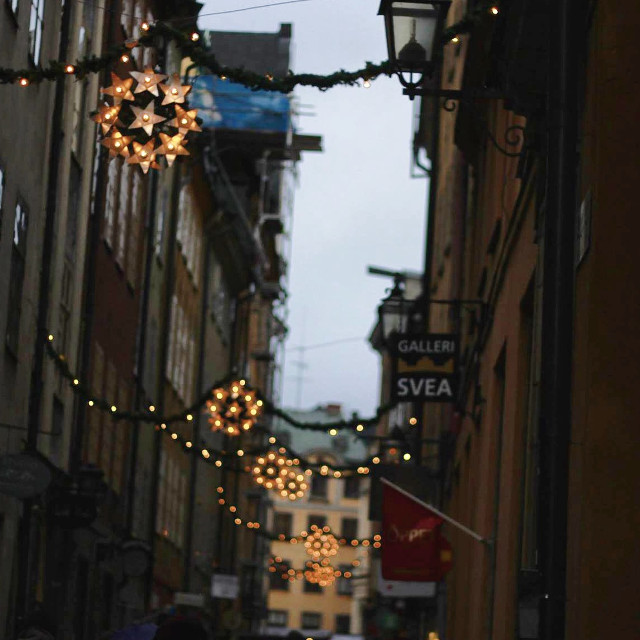 #christmas #street #art #photo #photography #lights taken by canon 600d in Stockholm, Sweden