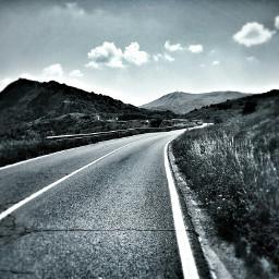 blackandwhite road