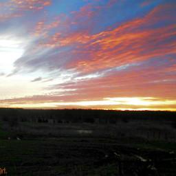 morning sky nature poland