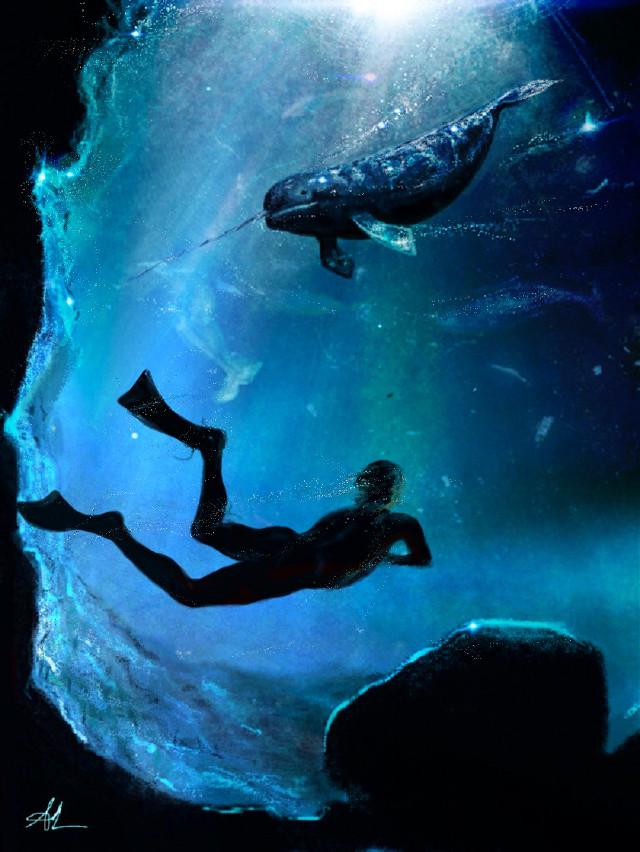#wdpnarwhal #drawing #digitaldrawing #ocean #immersion  Watch the video : http://youtu.be/2gIy_tn1X7c
