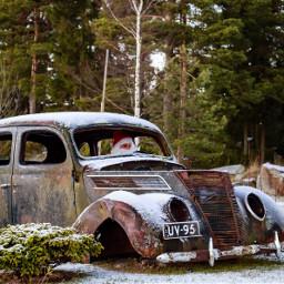 santa santaclaus car rusty old