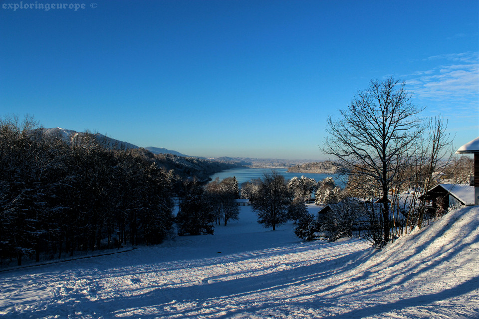 Bavaria overlooking the  staffelsee  #landscape #winter #water #snow #photography