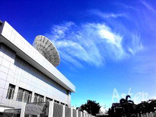 sky blue colorsplash urban architecture