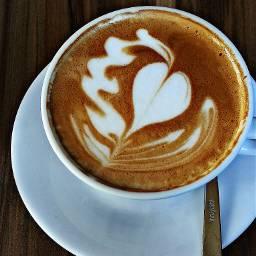 Coffee latte love hdr heart peace people breaktime