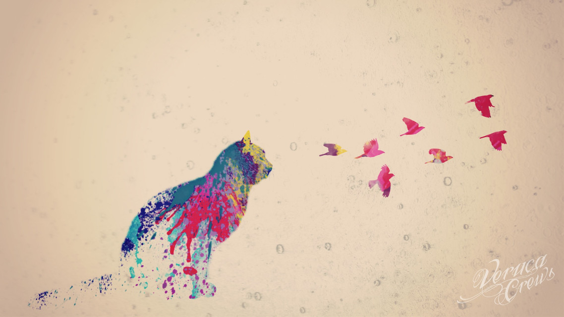 #art #artistic #doubleexposure #cat #birds