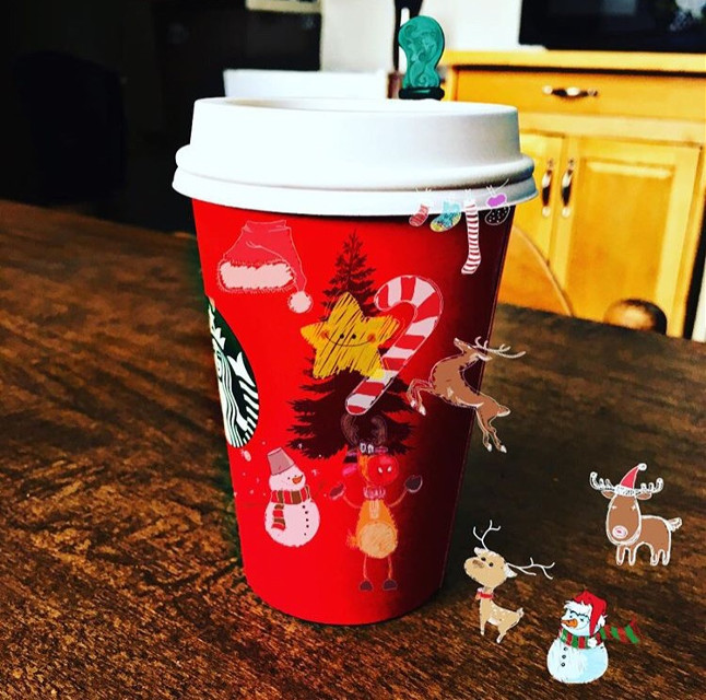 #Christmas attacked my #coffeecup