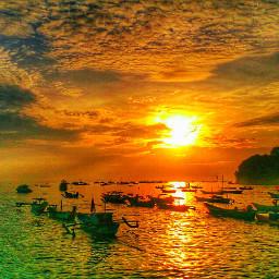 beach indonesia sky sunset nature