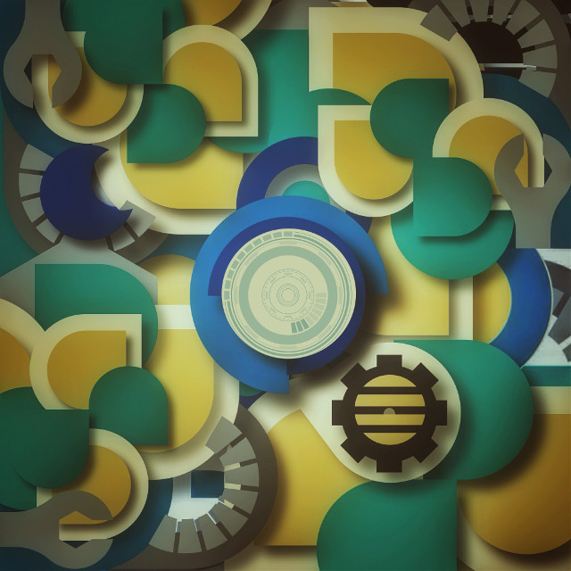 #shapes #abstract #green #yellow  #blue