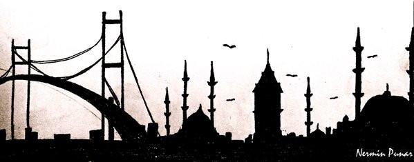 #Istanbul #galata #siluet #bosphorus #bogaz #turkey #drawing