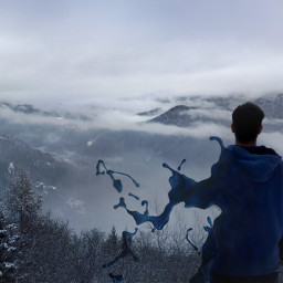 photography edited people mountain fantasy