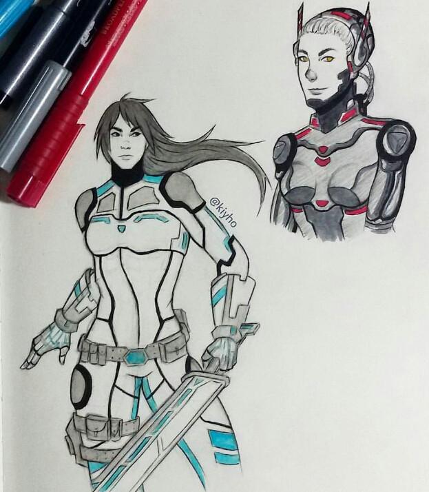 Random doodles :) #doodle #doodles sketch #pen #drawing #art #artist #anime #manga #mangadrawing #marker #colorsplash #blackandwhite