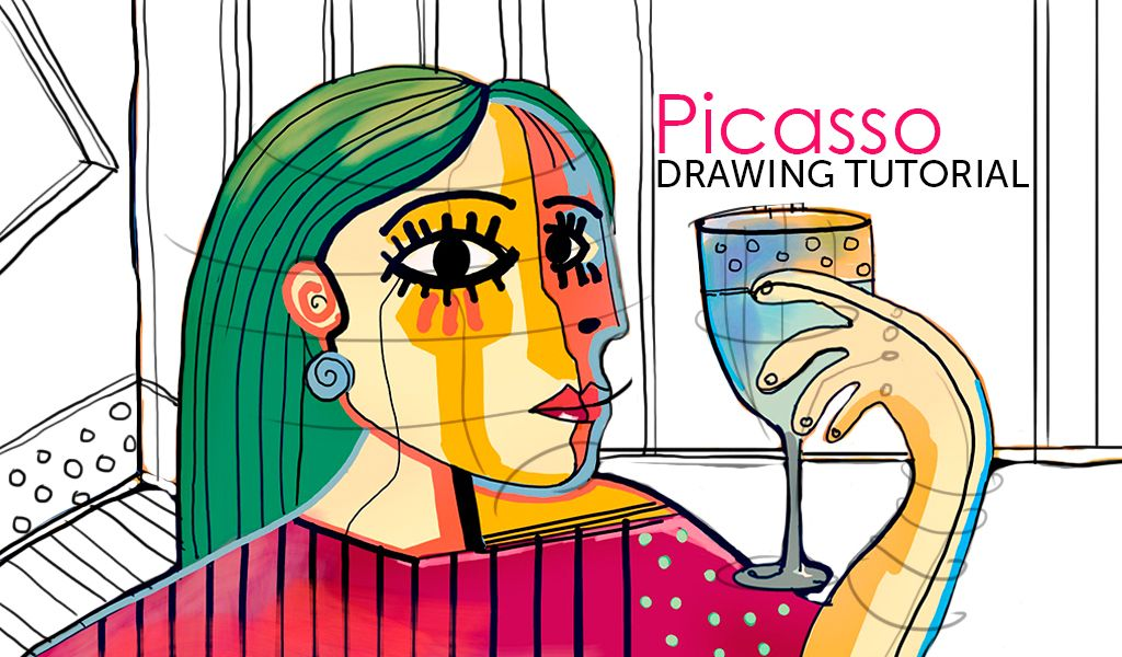 picasso style drawing