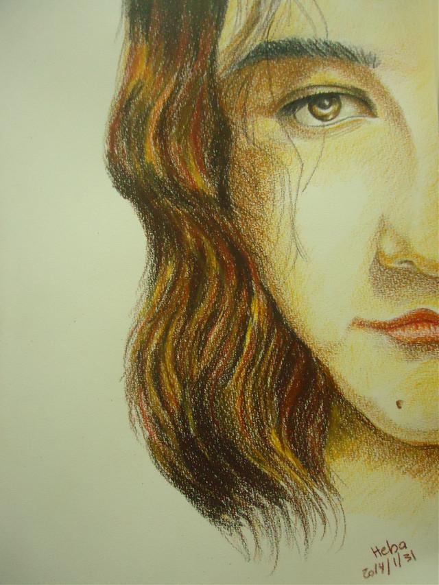 Self portrait .. Color pencils #portrait #art #colorpencils #drawing