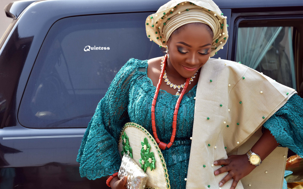 #Bride in a typical #African #wedding