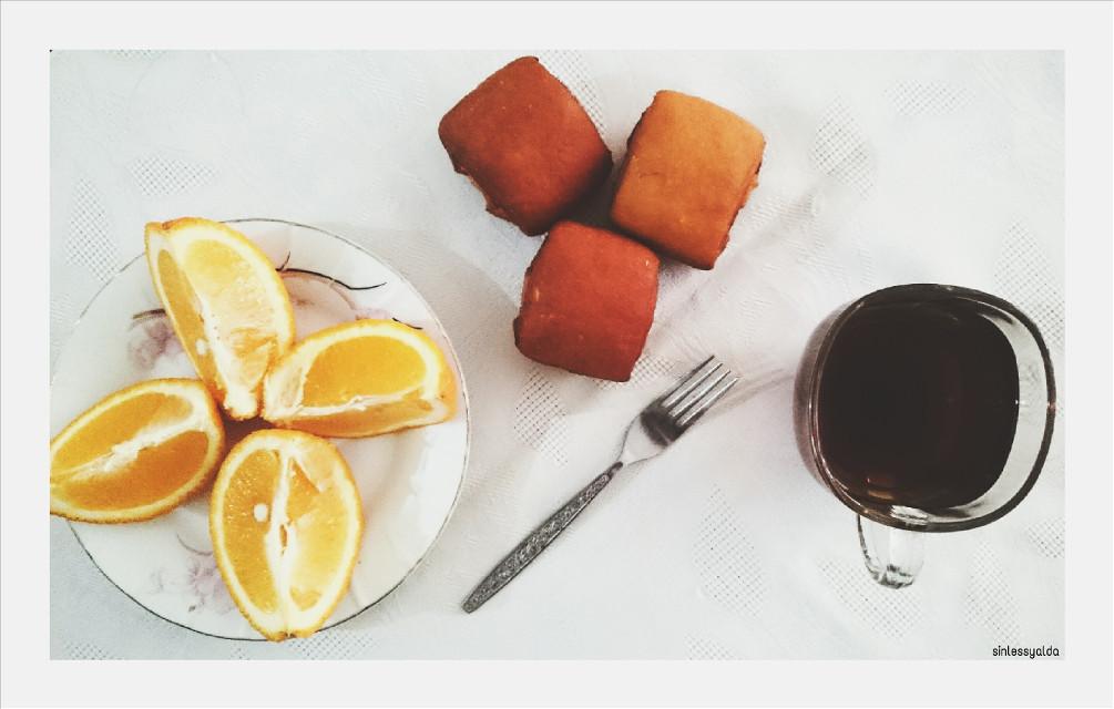 #colorful  #tea #orange  #cake  #photography  #food #breakfast