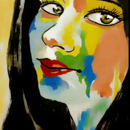 painting art portrait drawing colourful wdpprimarycolors