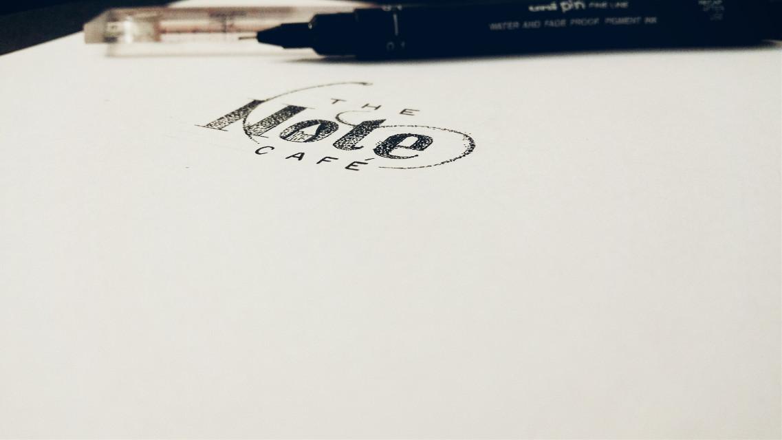 The Note Café.  Logo design