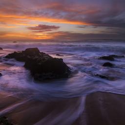 beach windy sea seascape sky