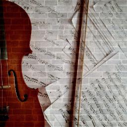 music lover violin sheetmusic freetoedit