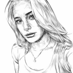 blackandwhite pencilart digitalart draw drawing fingersketch linework