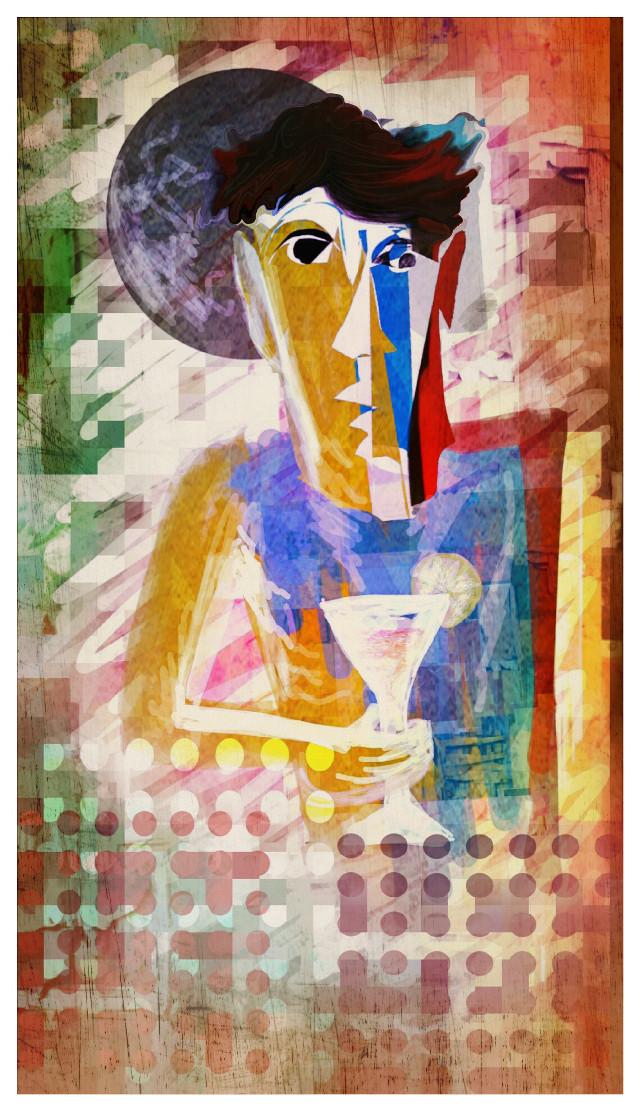 Edited for my dear Jackie😘  @killerdiller5  #man #drink #mask #shapemask #drawing #warptool #papereffect