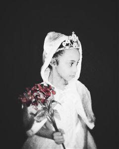 granddaughter princess portrait blackandwhite colorsplash