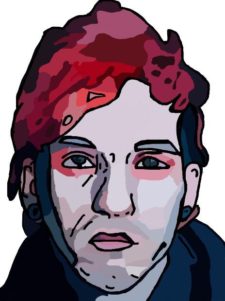 Here it is 🐵 |-/ #joshdun #twentyonepilots #portrait #drawing #drummer