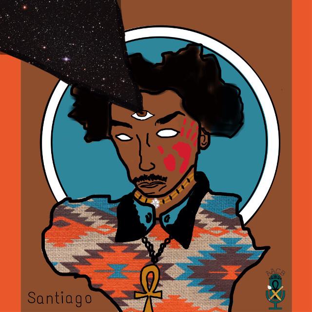 Santiago #melanin #art #afro #native