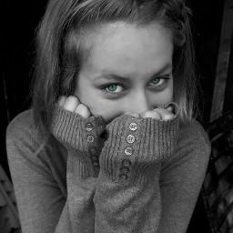eyes picsart photography blackandwhite greeneyes