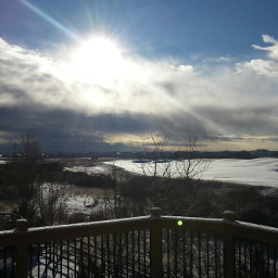dailyinspiration rays snow winter photography