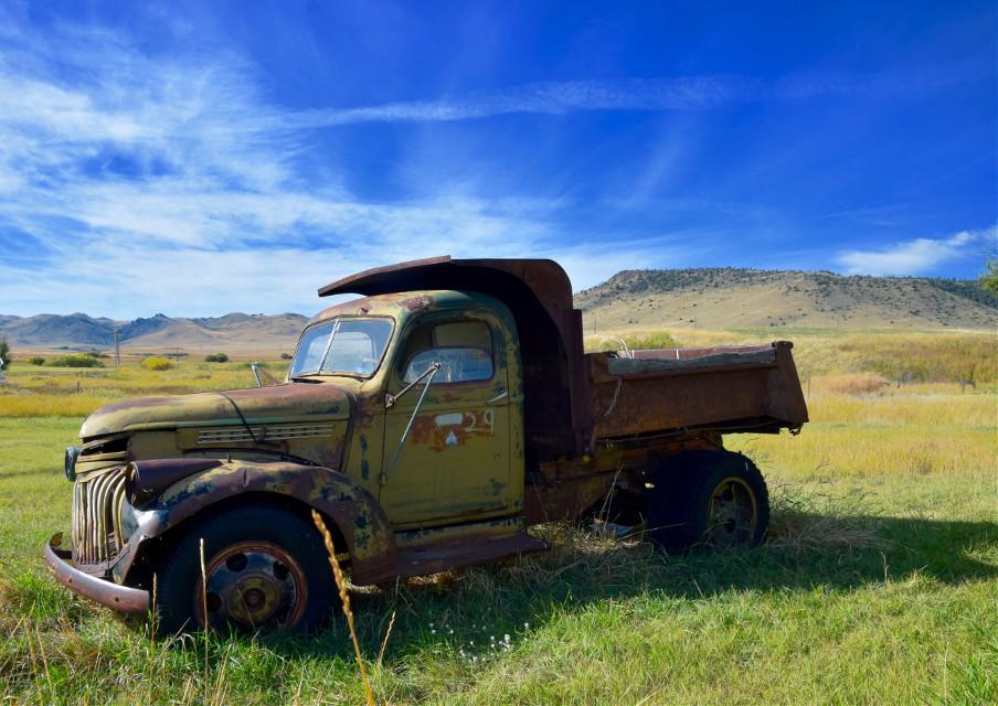 Rusty #interesting#art#vintage#truck #freetoedit
