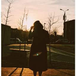 freetoedit girl sunset warm