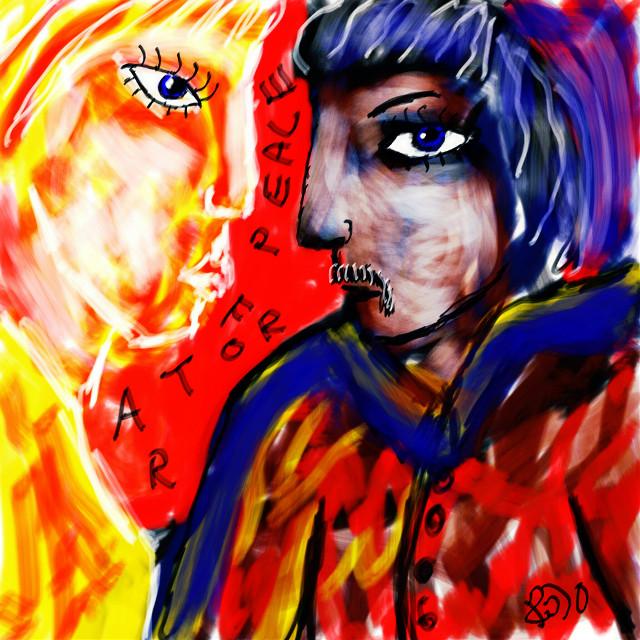 Give peace a chance / The plastic Ono band #freetoedit #art #colourful #rojo #artforpeace #freedoom #artforfreedom #drawing #colourful #peace