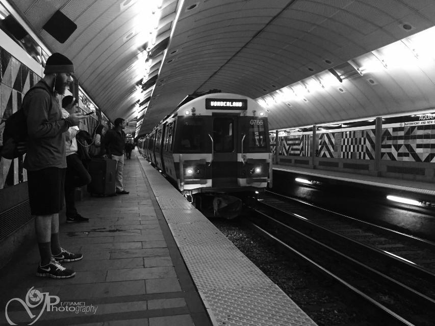 #boston #trainstation #people #black&white
