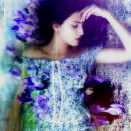 sleepingbeauty edited floral nature doubleexposure