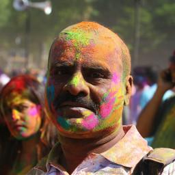 holi colorful colorsplash colourpowder people