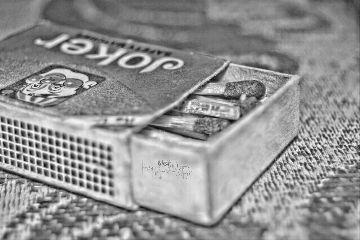 blackandwhite hdr closeup photography matchbox